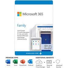 [6GQ-00083] Microsoft 365 (ไมโครซอฟท์ ออฟฟิต 365) Family AllLng Sub PK Lic APAC EM C2R NR (1 LICENSE, 1 YEAR, DOWNLOAD) [ESD]