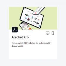 Acrobat Pro (Perpetual) จัดการไฟล์เอกสาร PDF ยุคดิจิตอล
