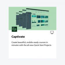 Adobe Captivate (Perpetual) โปรแกรมสร้างสื่อมัลติมีเดีย